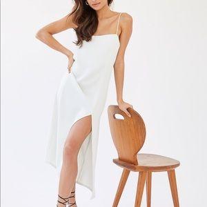 Aritzia Babaton Slit Slip Dress in MAUVE